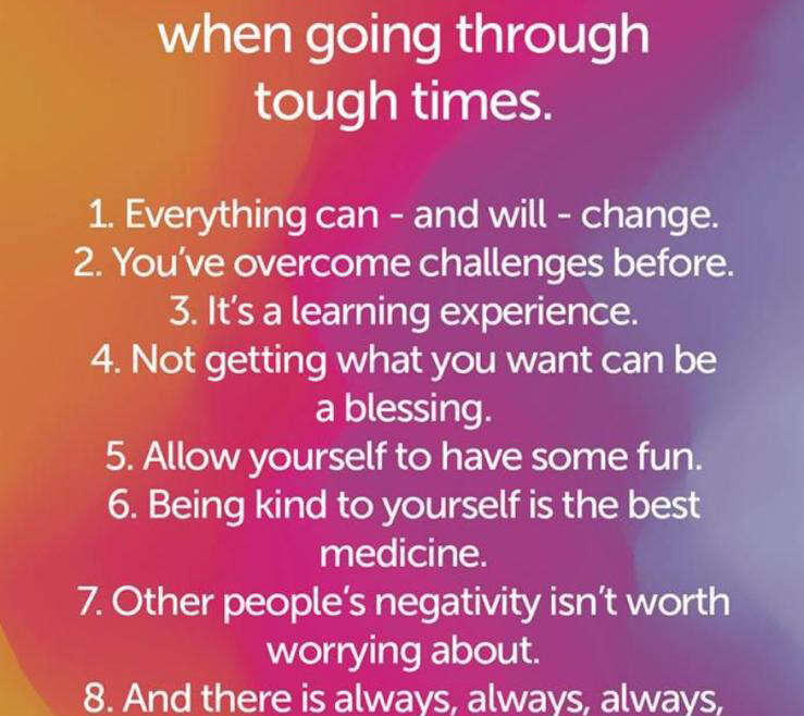 8 things to remember when going through tough times